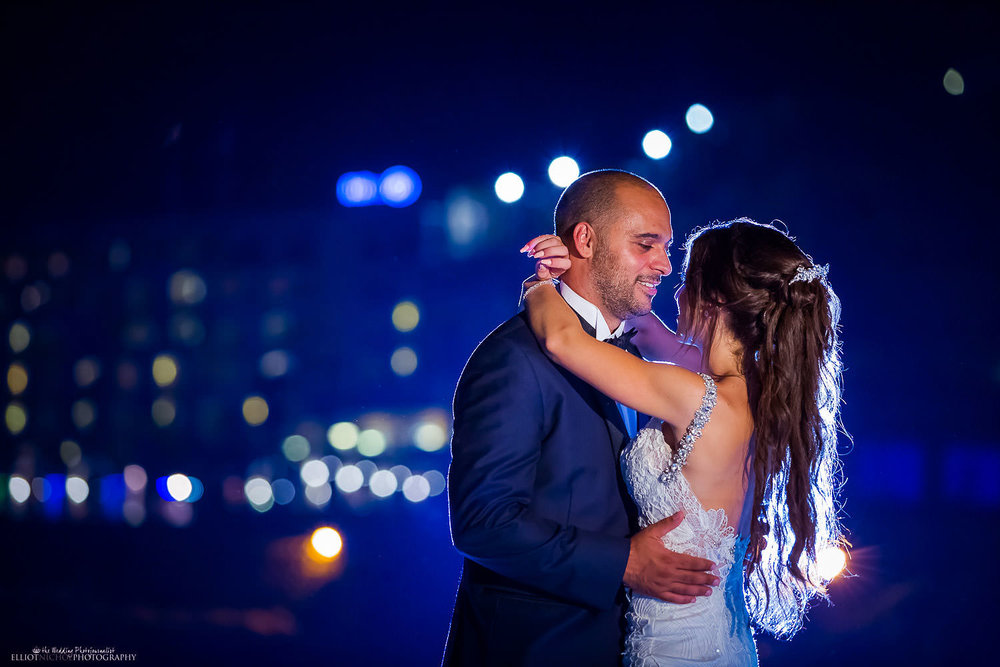Bride and groom first dance at the Westin, Malta. Wedding photography
