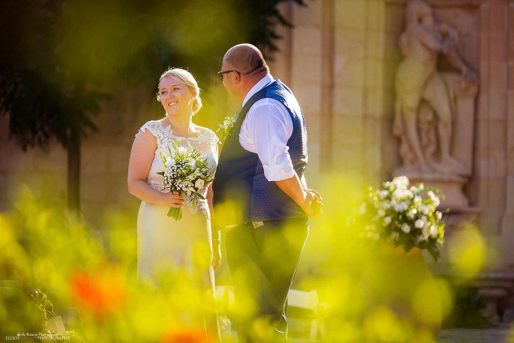 wedding photography in Malta. Bride and Groom at Villa Bologna, Malta.