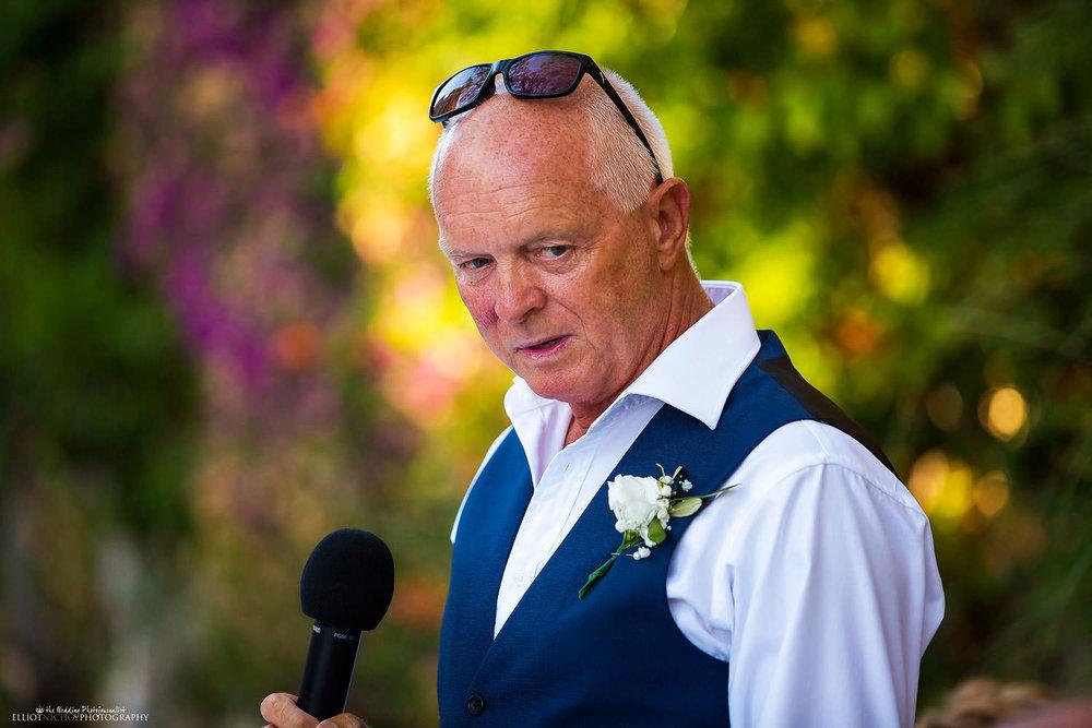 Wedding speeches at Villa Bologna wedding. Malta wedding photography