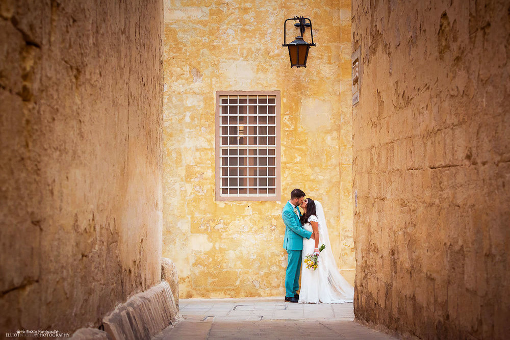 Bride & Groom portrait in Mdina, Malta.