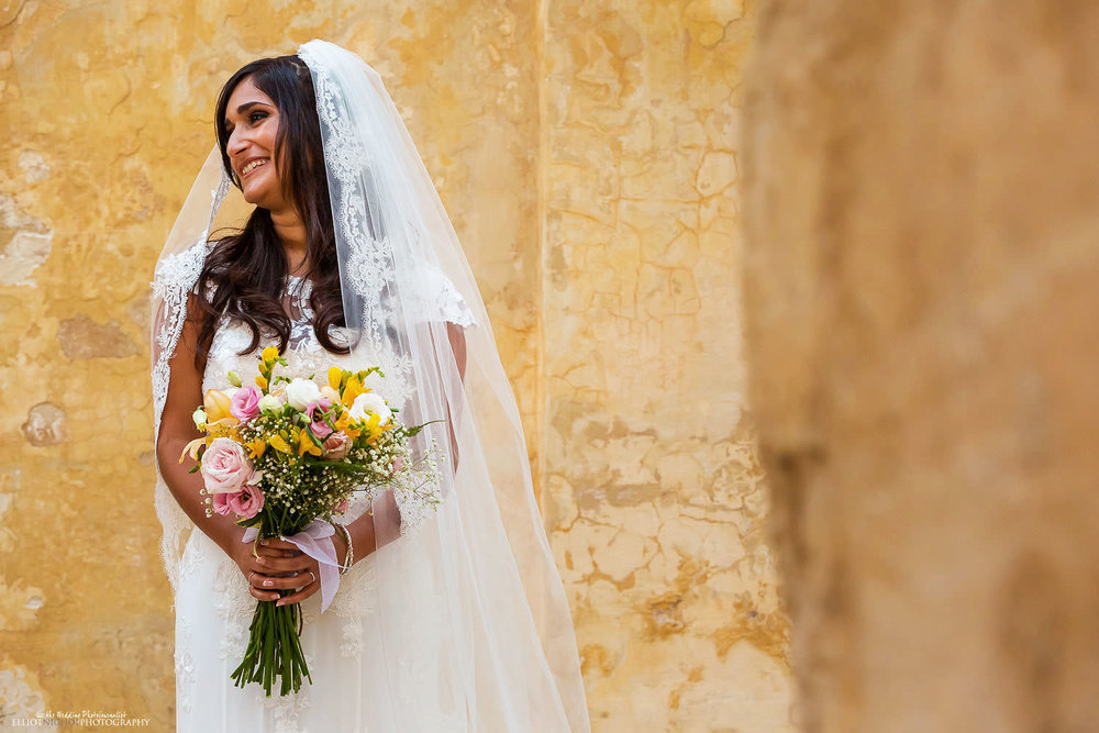 brides portrait in Mdina