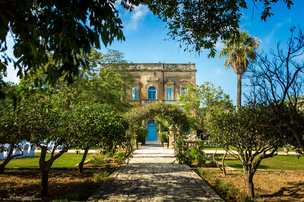 Maltese wedding venue Villa Bologna in Attard, Malta.