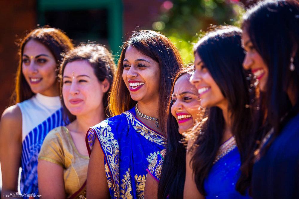 Indian wedding guests. Photo by Newcastle Upon Tyne based wedding photojournalist Elliot Nichol.