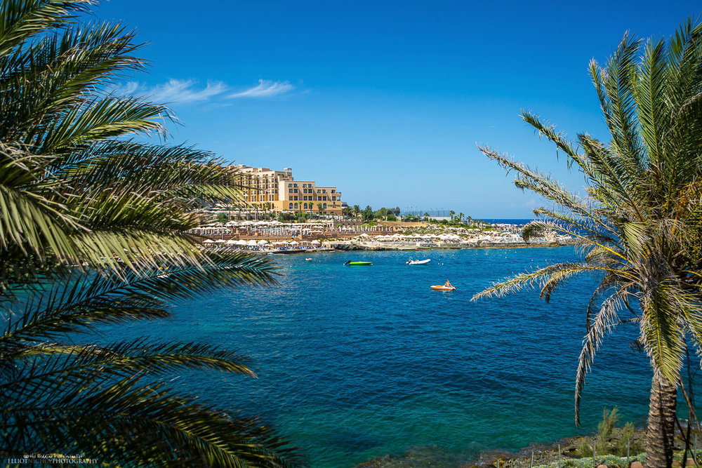 View of the Corinthia Hotel in St Julians, Malta