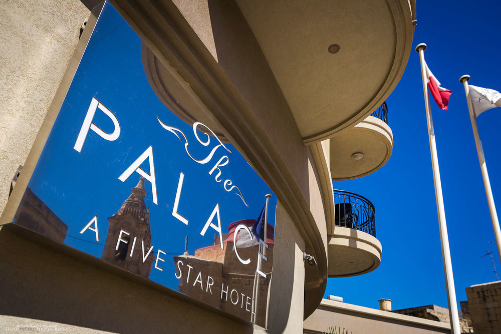 The Palace 5 star Hotel in Sliema, Malta.