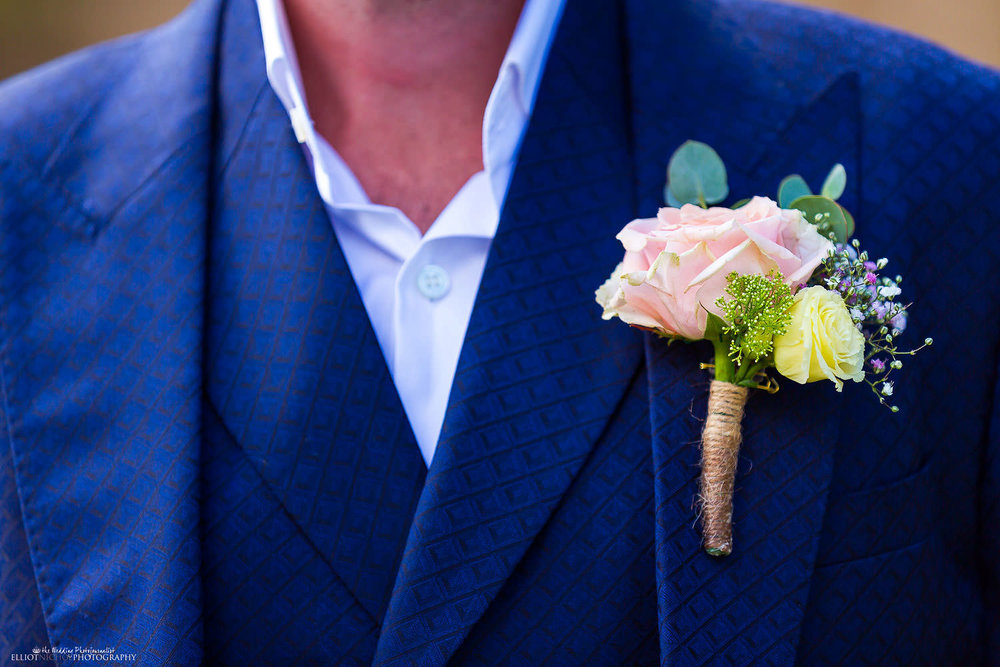 Groom's button hole - Florist Villa Bologna Weddings.