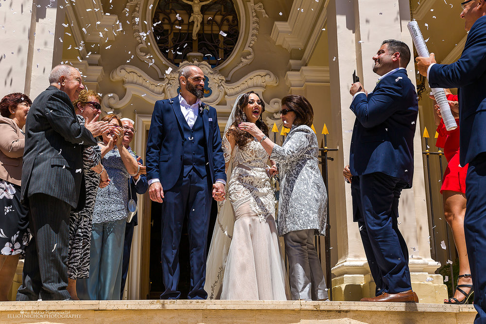 wedding-day-confetti-bride-groom-malta-church
