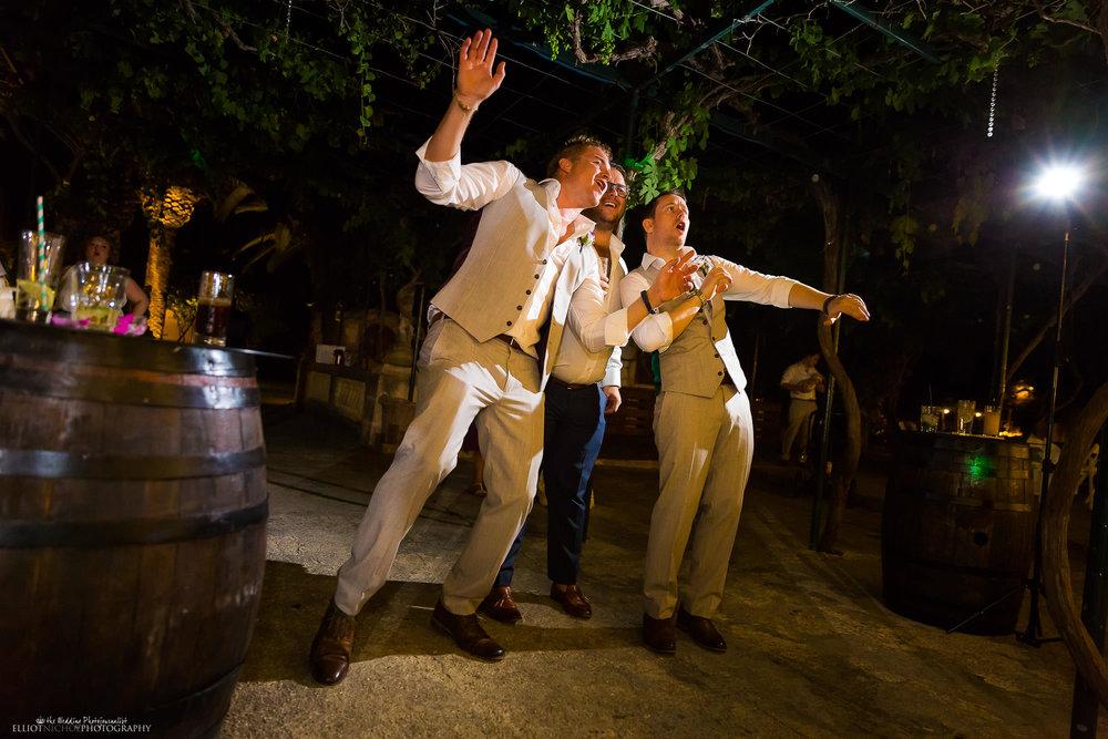 wedding-reception-groom-groomsmen-partying-party