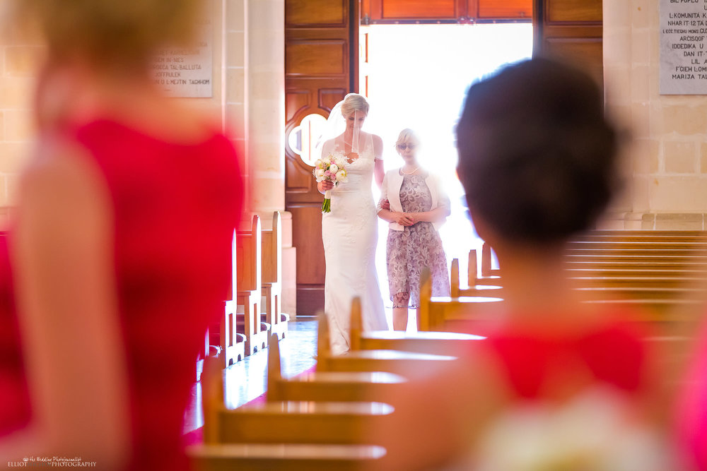 procession-mother-daughter-wedding-ceremony-church