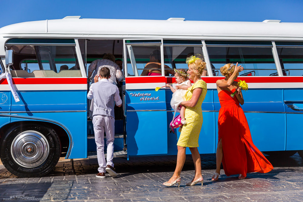Maltese-vintage-wedding-bus-coach-guests-photography