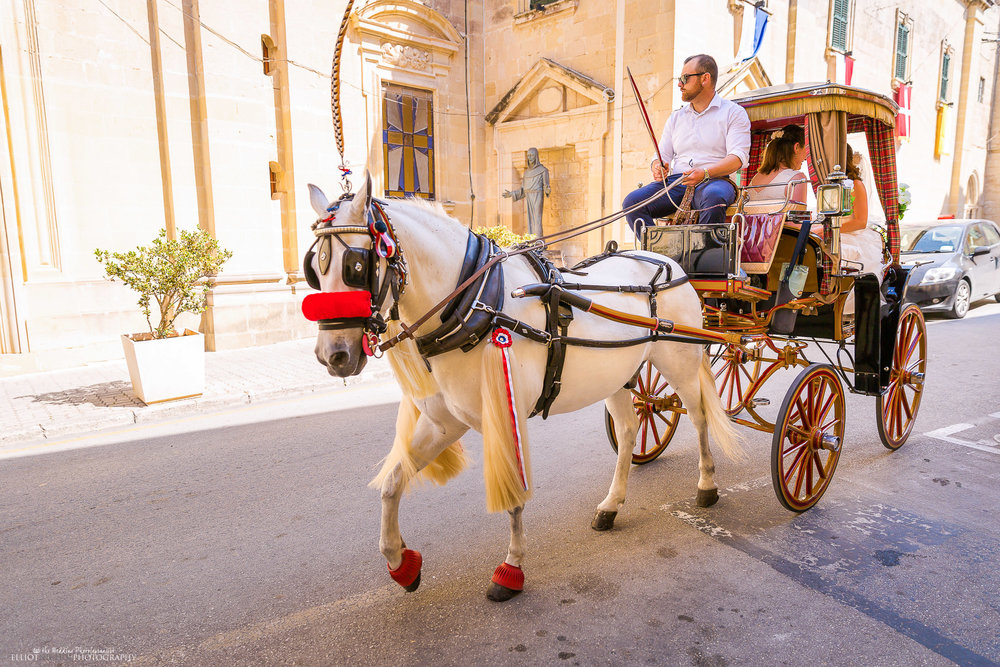 wedding-horse-carriage-Malta-wedding-Mdina-destination-wedding