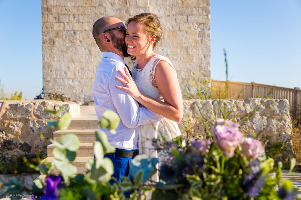 bride-groom-kiss-wedding-ceremony-Dingli-photographer