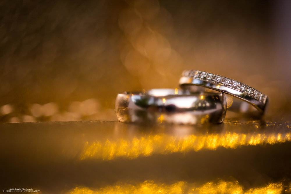Wedding ring detail. Photo by Elliot Nichol Photography.