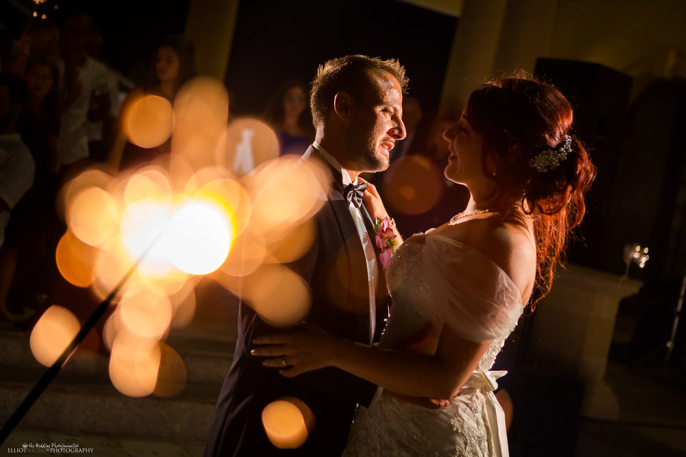 Newlyweds Sparkling first dance together. Photo by Elliot Nichol Photography.