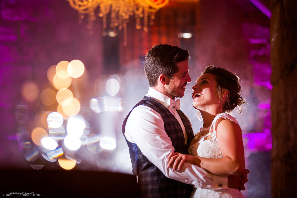 Bride and groom on the dance floor- Photo by Newcastle based wedding photographer Elliot Nichol.