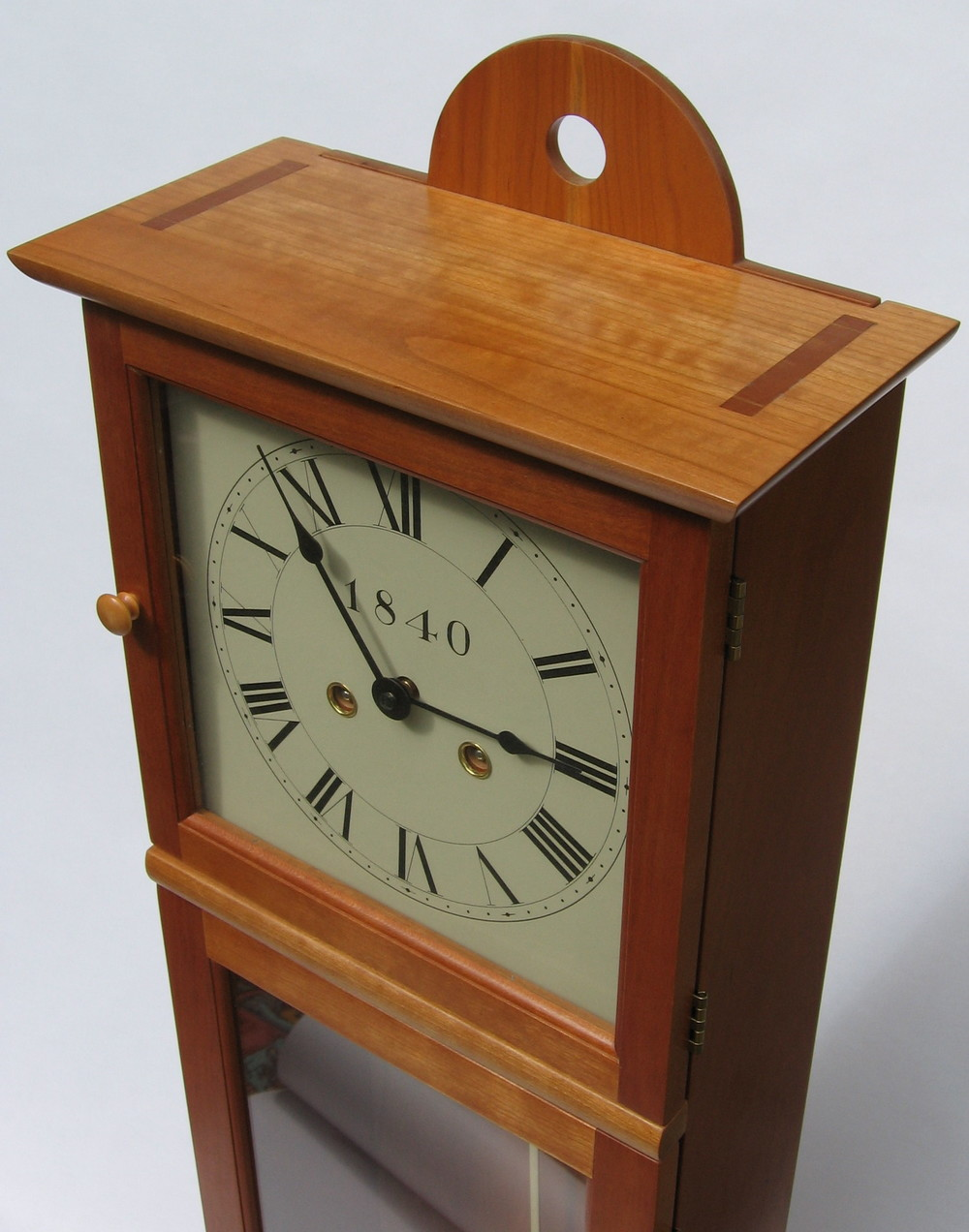Custom woodworking frank vellone shaker wall clock amipublicfo Image collections