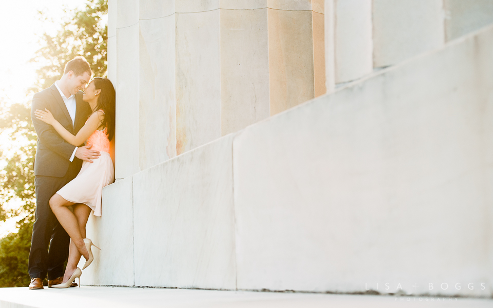 Le Diplomate & Lincoln Memorial Engagement Session // Lisa Boggs Photography // DC Engagement Photography