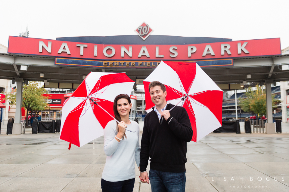 Natalie and Eddie's Nationals Park Engagement Session