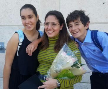 With beloved students Isabella Ortiz & Julian Recio