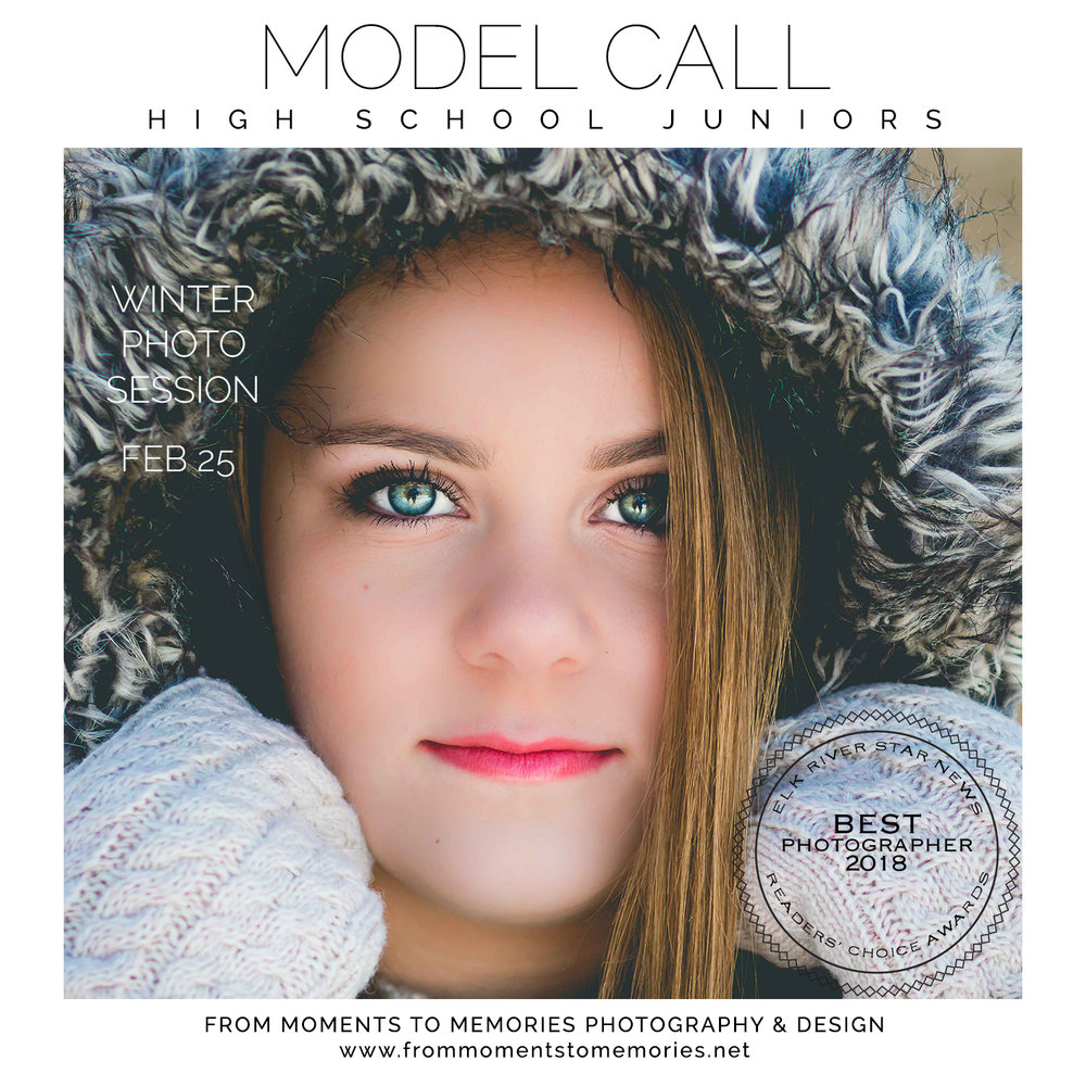 Junior Model Call | Elk River Senior Pictures | Winter Photo Session