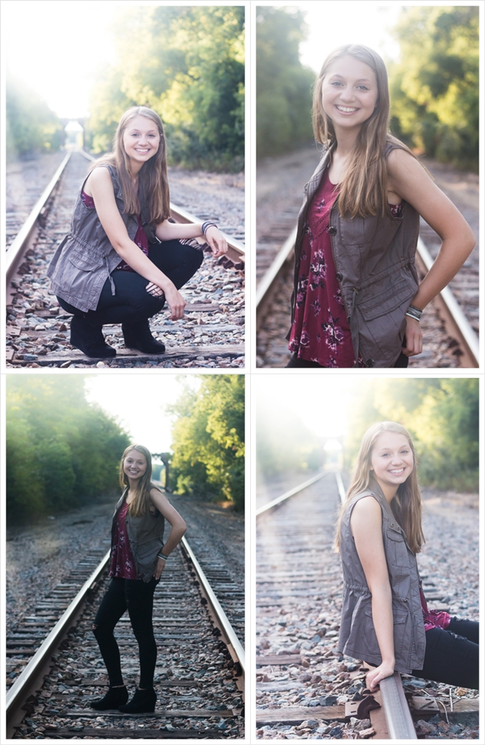 Senior pictures in Albertville on Railroad Tracks