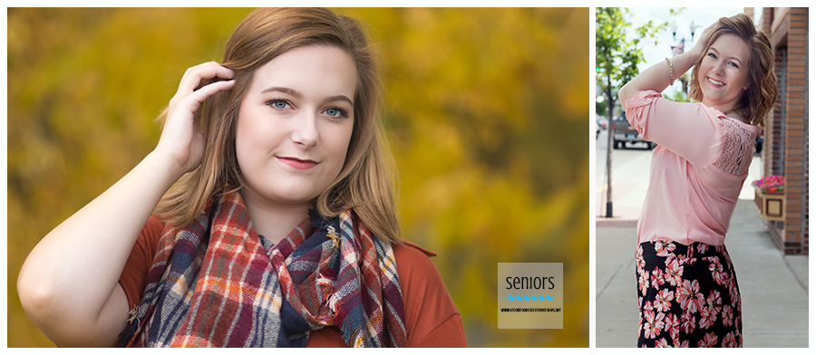 summer girl senior pictures in downtown anoka, minnesota