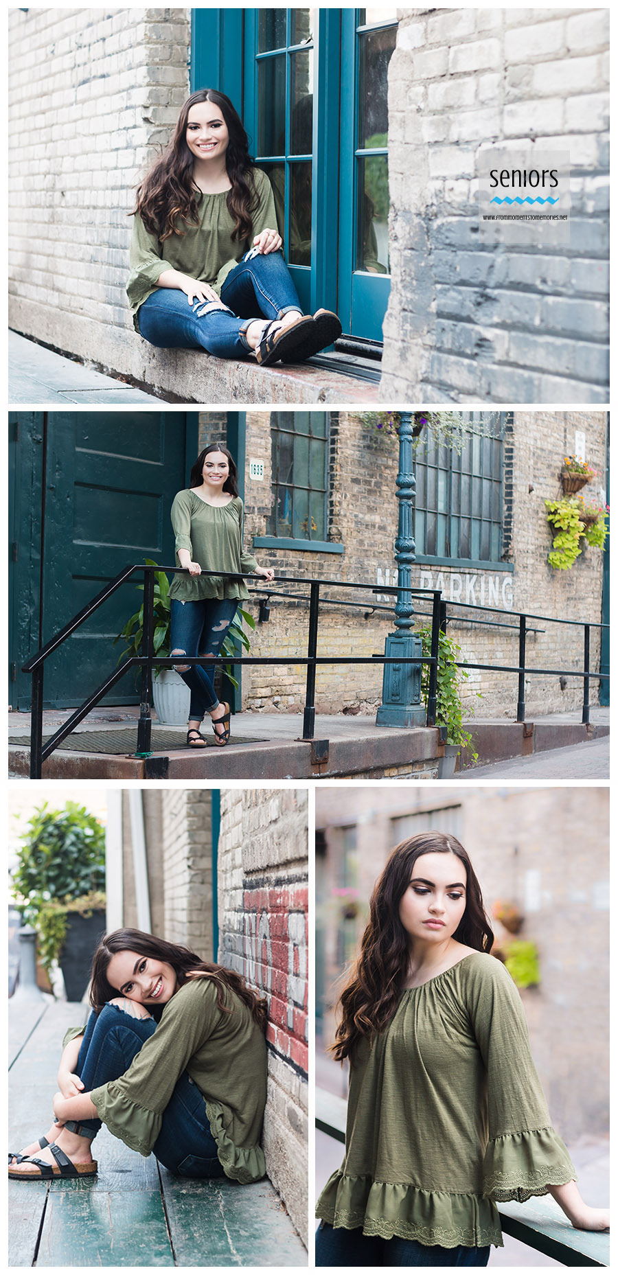 senior girl picture in downtown minneapolis loving park four corners location