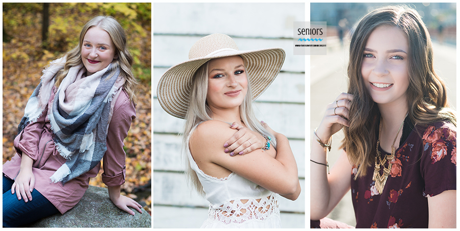 senior girl pictures with hat, scarf and necklace for accessories