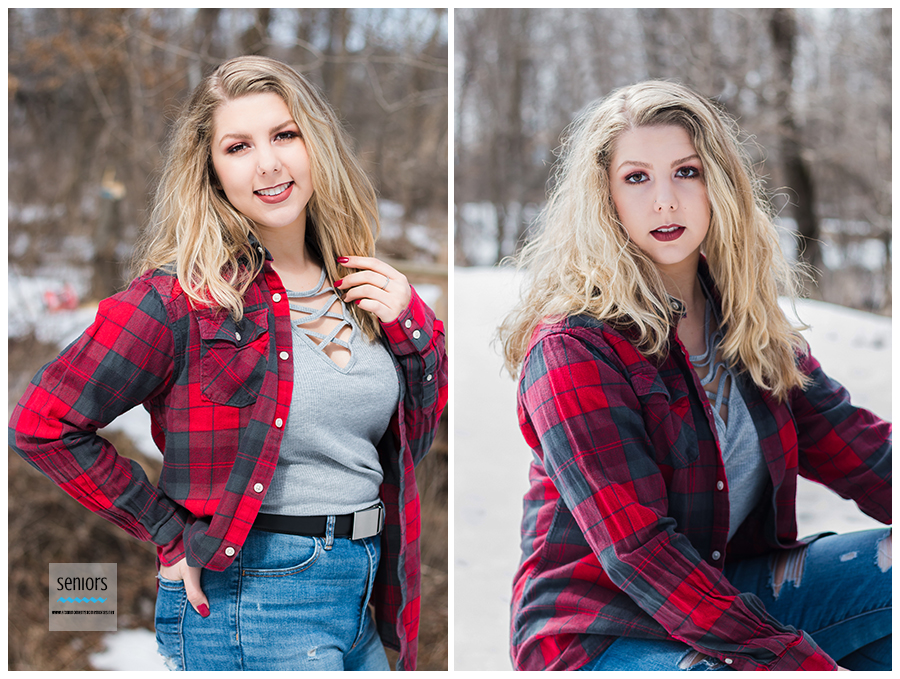 pretty high school senior getting her portraits taken in princeton, minnesota