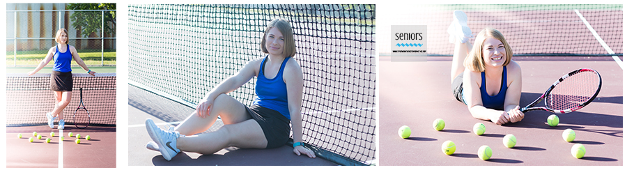 high school senior getting her tennis portraits taken in anoka, minnesota