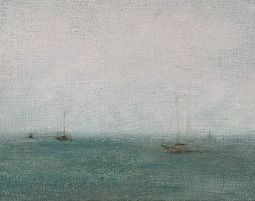 Boats Resting in the Fog