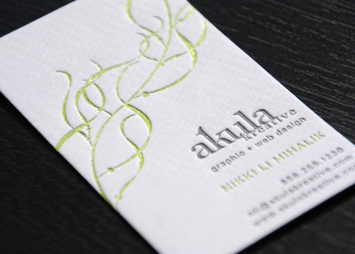Akula Kreative Letterpress Business Card