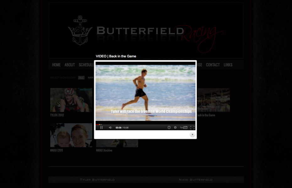 Butterfield Racing | web design