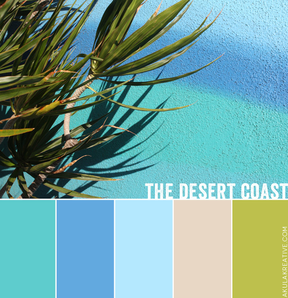 Desert Coast Southern California Color Palette