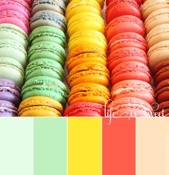A Macaroon-Inspired Spring and Summer Color Palette