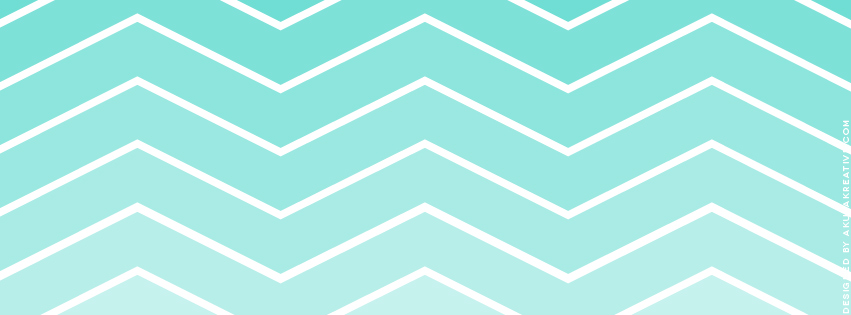 Aqua Chevron Facebook Cover Photo // Free Download