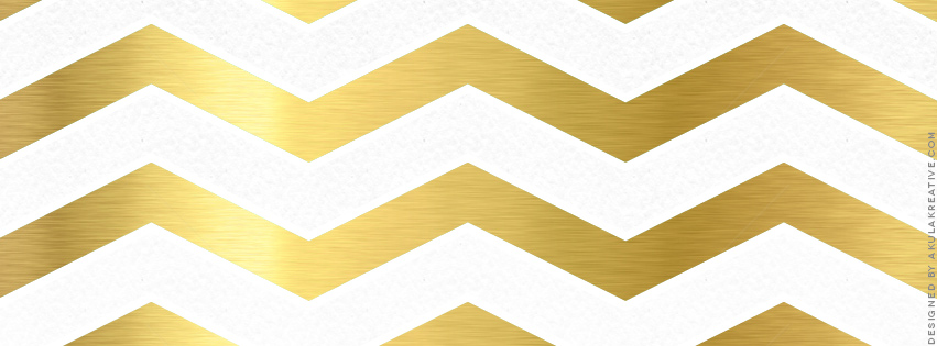 Gold and White Chevron Facebook Cover Photo // Free Download