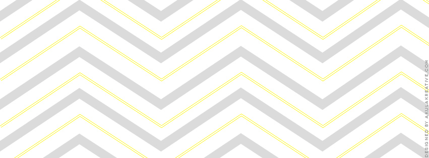 Gray and Yellow Chevron Facebook Cover Photo // Free Download