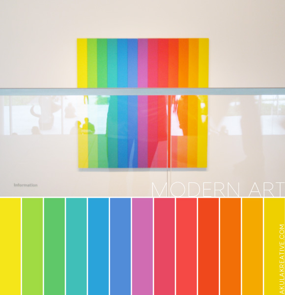 modern art | rainbow | gradient | color palette