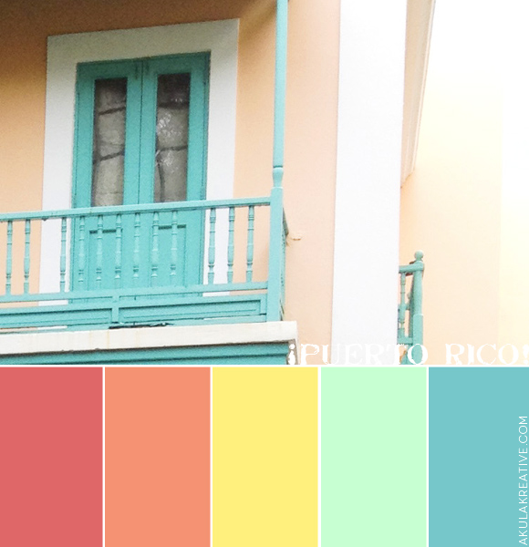 Puerto Rico Latin Tropical Color Palette