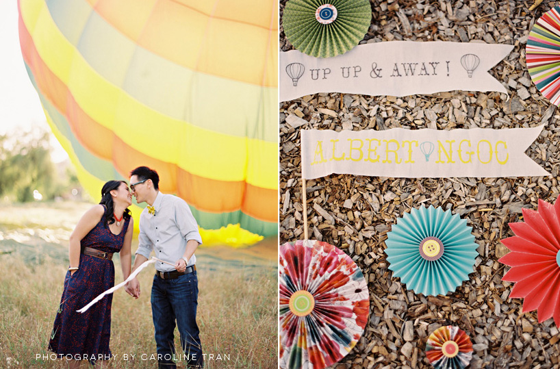 Hot Air Balloon Anniversary Shoot by Caroline Tran