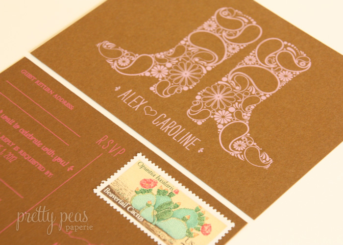 summer fiesta wedding invitation