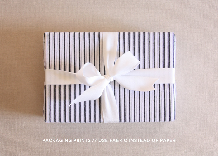 creative photo packaging using fabric