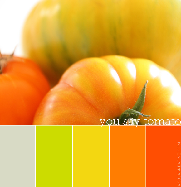 Fresh and Refreshing | Heirloom Tomato Color Palette