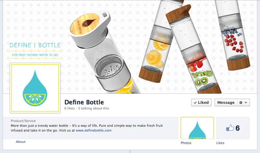 Define Bottle | Custom Facebook Branding and Design