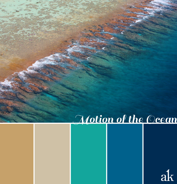 ocean coastal color palette inspiration
