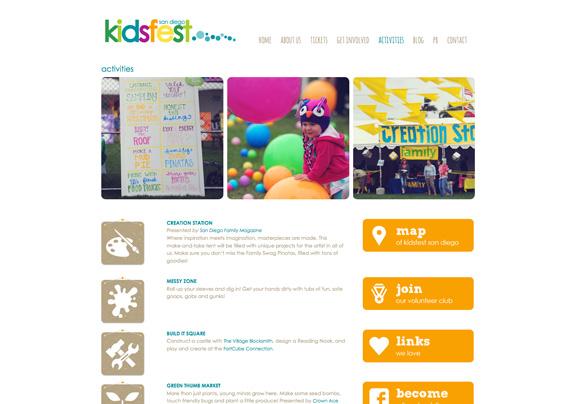 KidsFest San Diego Web Design