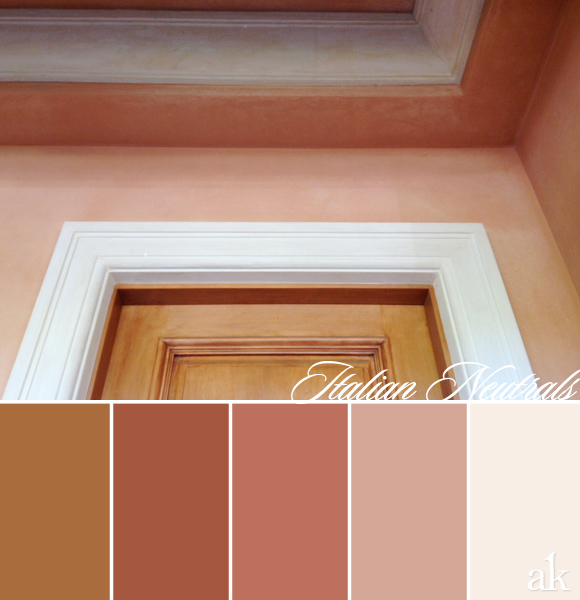 color inspiration | italian villa, tuscany, brown, dusty rose, neutrals
