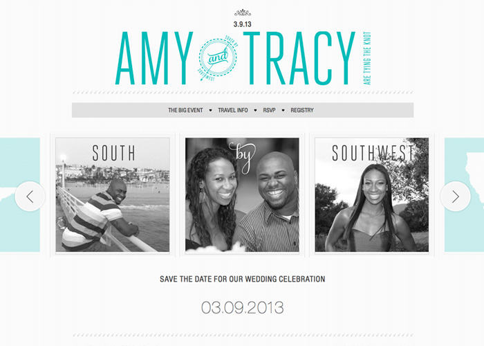 Modern Wedding Website | custom designed template
