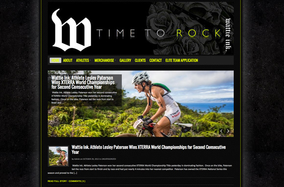 Triathlete Web Design